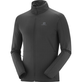 Salomon Outtrack Full Zip Mid Fleecejacket Men, black